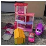 HUGE Barbie Doll House w Accessories W9A