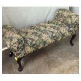 Floral Upholstered Bench K10A