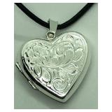 Sterling Silver Locket Pendant JC