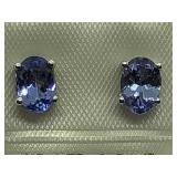 Sterling Silver Tanzanite Earrings JC