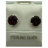 Sterling Silver Ruby Earrings JC