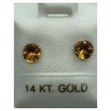 14K White Gold Citrine Earrings JC