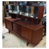 Vintage 2 Piece Mid Century Cabinet W10A