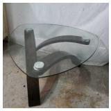Triangular Glass Top Coffee Table X3B