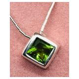 $100 S/Sil Peridot Necklace