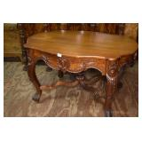 EMPIRE HAND CARVED OCCASIONAL TABLE