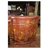 HAND PAINTED OAK CREDENZA