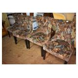 4 PIER 1 UPHOLSTERED CHAIRS