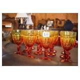 12 AMBERINA WATER GLASSES
