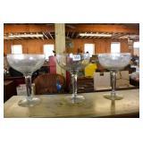 3 GIANT MARGARITA GLASSES