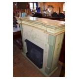 HAND PAINTED MODERN FIREPLACE