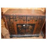 HAND PAINTED ORIENTAL CABINET