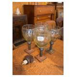 JAN BARBOGLIO HANDBLOWN GLASSES WITH IRON