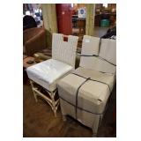 PAIR OF WICKER COUNTER HEIGHT BARSTOOLS