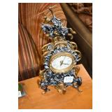 BATTERY OPERATED METAL FRENCH CLOCK