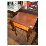 MAHOGANY & TIGER MAPLE SEWING STAND HAND