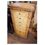 PAINTED JEWELRY CABINET AS FOUND NEEDS REPAIRS
