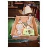PERFUME BOTTLES & MARBLE TRINKET BOX