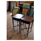 """PAIR OF MAHOGANY END TABLES """"AS FOUND"""""""