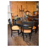 HAND PAINTED ROUND TABLE & 4 CHAIRS