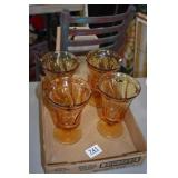4 FOSTORIA JAMESTOWN GLASSES