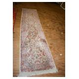 CREAM COLORED FLORAL RUNNER