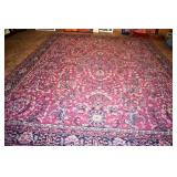 HAND WOOVEN WOOL RUG ~ ANTIQUE