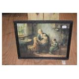 ANTIQUE PICTURE IN FRAME