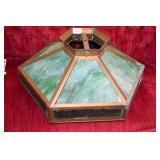 ARTS & CRAFTS STAINED GLASS LAMP SHADE