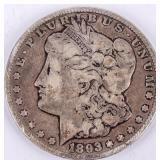 Coin 1893-CC  Morgan Silver Dollar Fine, Key Date