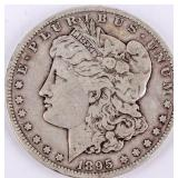 Coin 1895-S  Morgan Silver Dollar Fine, Key Date