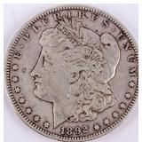 Coin 1892-S  Morgan Silver Dollar Fine, Rare!