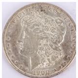 Coin 1900-S  Morgan Silver Dollar Choice AU