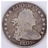Coin 1803 U.S. Silver Dollar Genuine VF Grade