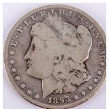 Coin 1893-S  Morgan Silver Dollar VG Key Date