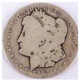 Coin 1902-S Morgan Silver Dollar AG, Key Date