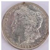 Coin 1888-S  Morgan Silver Dollar Choice AU