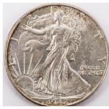 Coin 1942 Walking Liberty Half Dollar Gem B.U.
