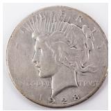 Coin 1928 Peace Silver Dollar in Very Good Rare!