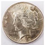 Coin 1923 Peace Silver Dollar Gem B.U.