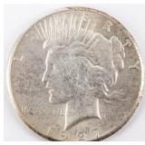 Coin 1927 Peace Silver Dollar Choice B.U.