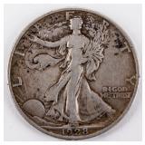 Coin 1928-S Walking Liberty Half Dollar Extra Fine