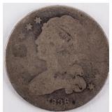 Coin 1836 U.S. Bust Quarter  Rare!  Almost Good