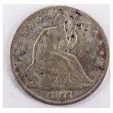 Coin 1877-S U.S. Seated Liberty Half Dollar F*