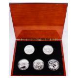 Coin 5 National Parks 5 Ounce Silver  25 OZ.