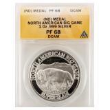 Coin North American Big Game Silver ANACS PF68