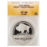 Coin 2009 Proof  Lakota Nation Silver ANACS PF68