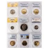 Coin 9 PCGS / ANACS Certified Coins