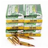 AMMO Lot of 120 Rounds of Electric Primed 243 Win
