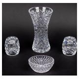 Lot of Waterford Crystal Vase / Candlestick Holder